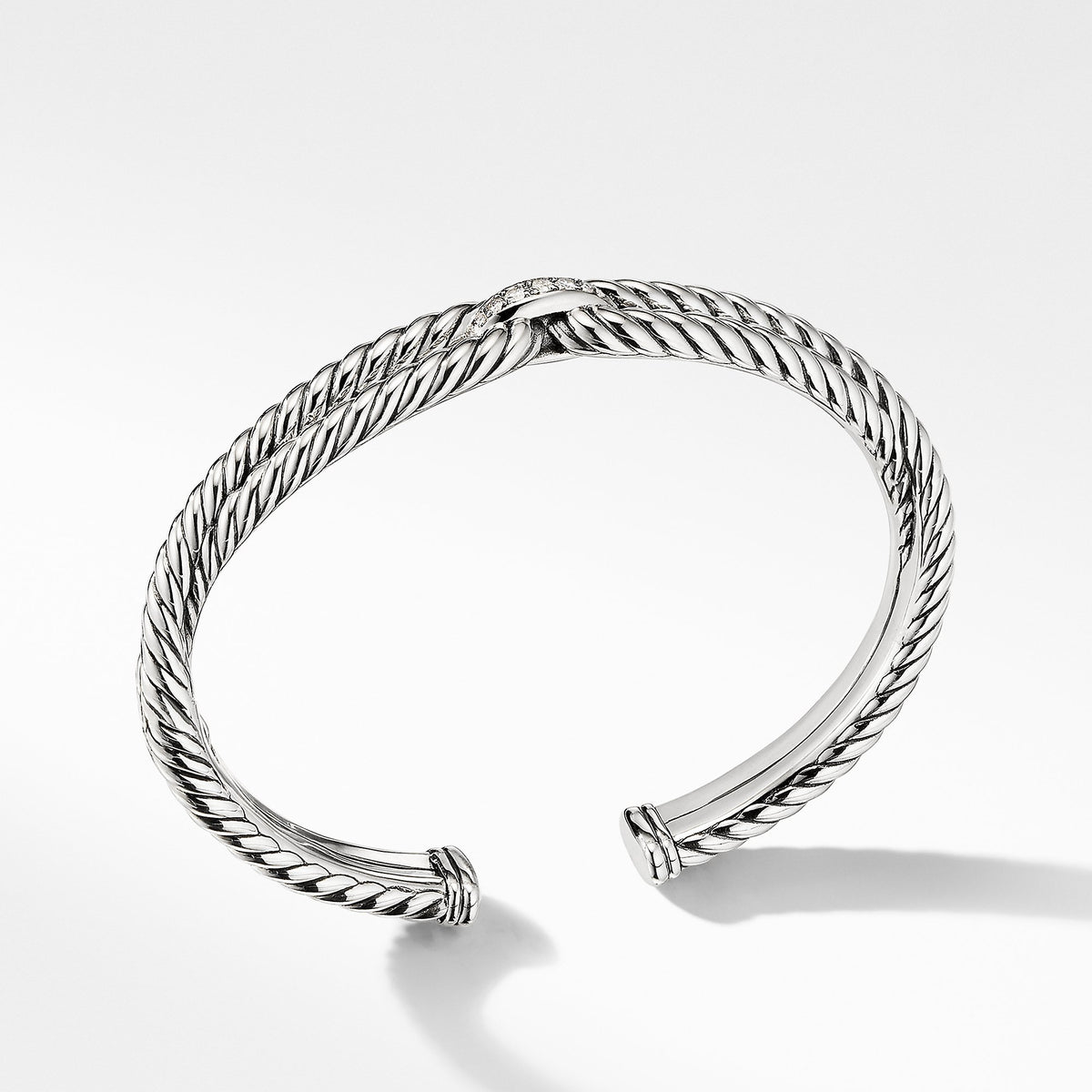 Cable Loop Bracelet with Diamonds