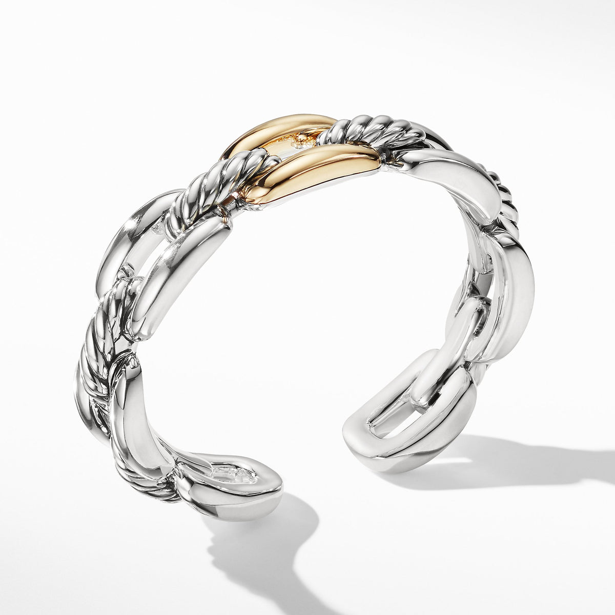 Wellesley Link Single Stack Bracelet with 18K Gold