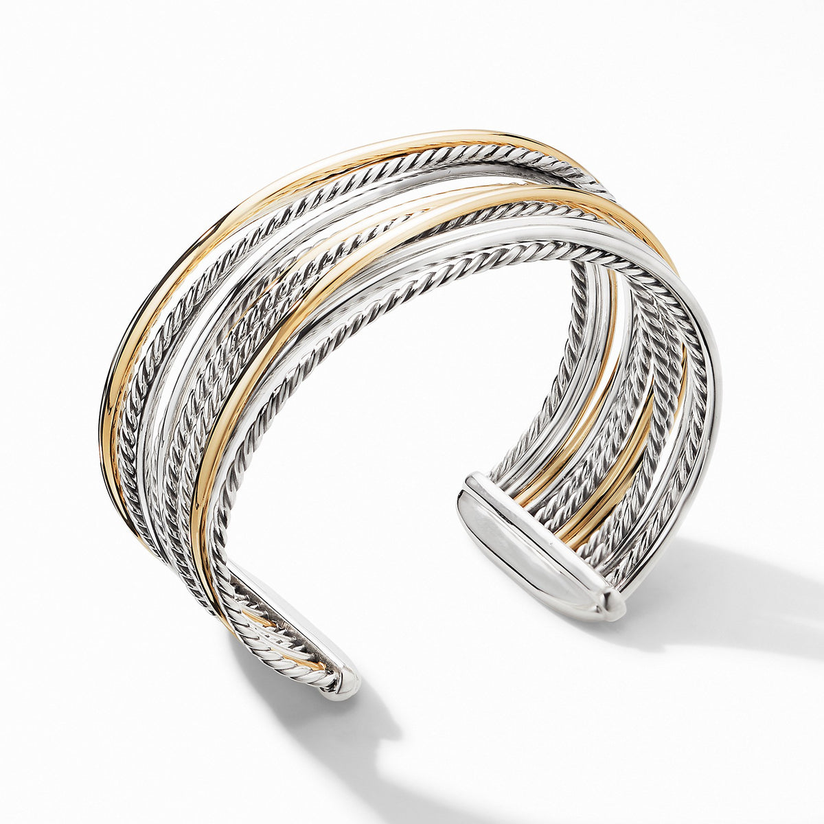 The Crossover Collection Wide Cuff Bracelet with 18K Yellow Gold