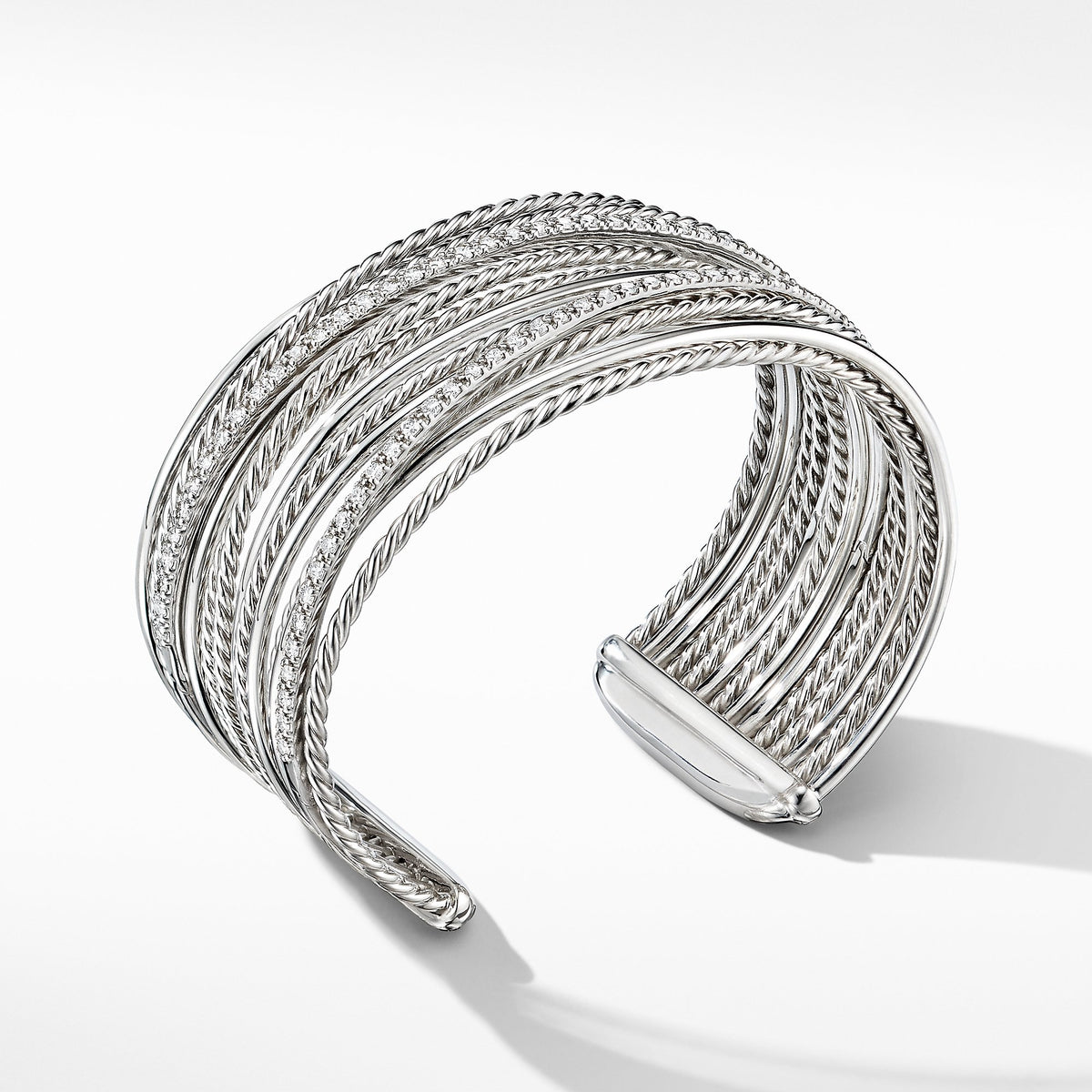 The Crossover Collection Cuff Bracelet with Diamonds