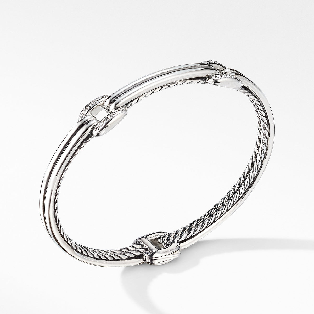 Thoroughbred Double Link Bracelet with Diamonds
