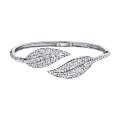 Diamond Leaf Bypass Bangle