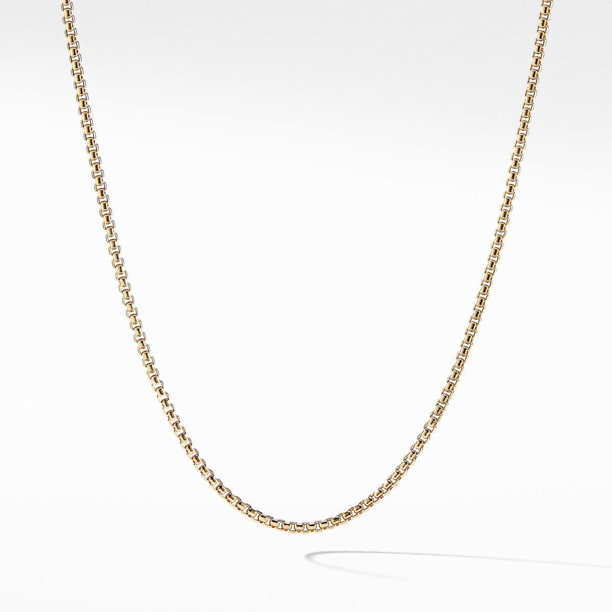 Small Box Chain in 18K Gold, 2.7mm
