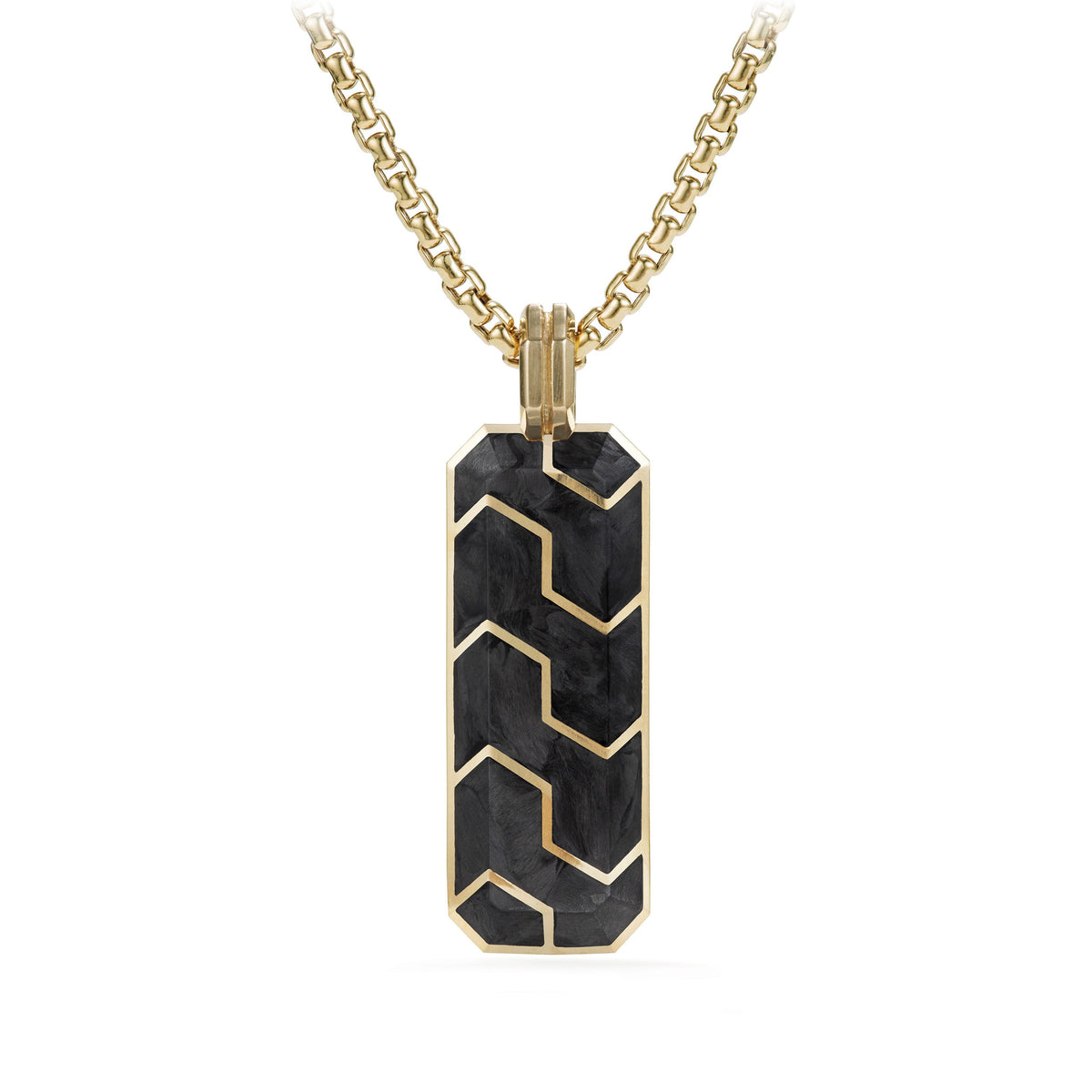 Forged Carbon Ingot Tag with 18K Gold