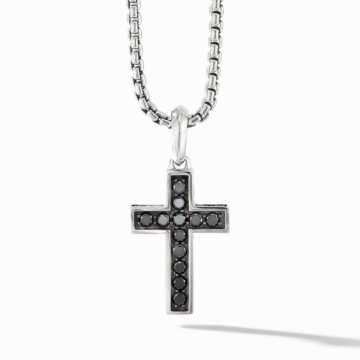 Cross Pendant with Pave Black Diamonds