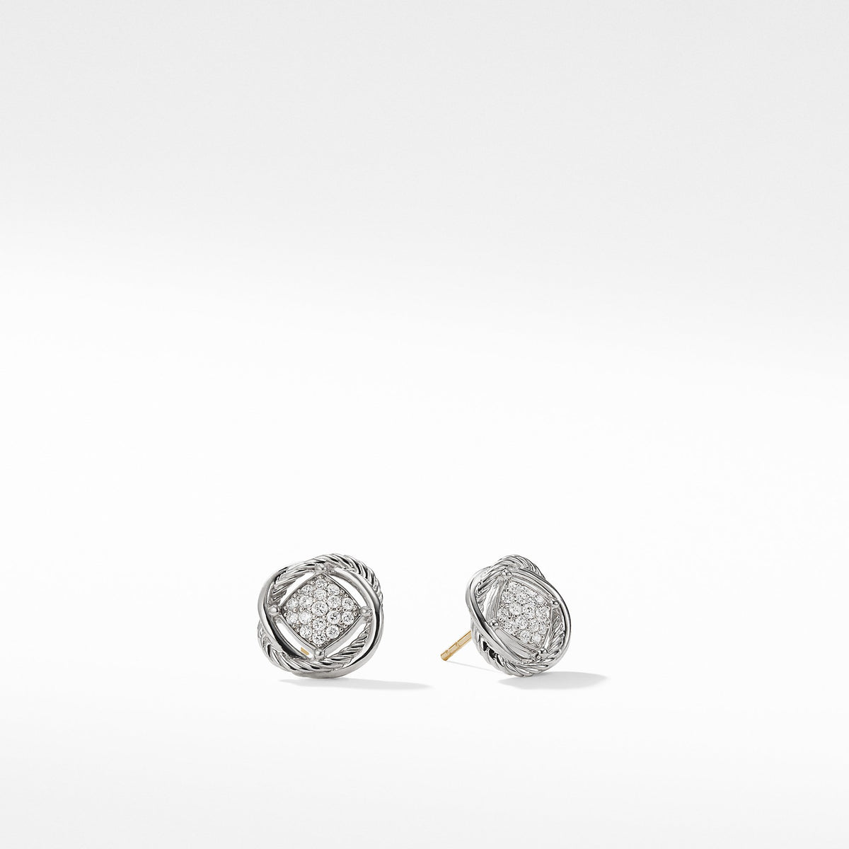 The Crossover Collection Earrings with Diamonds