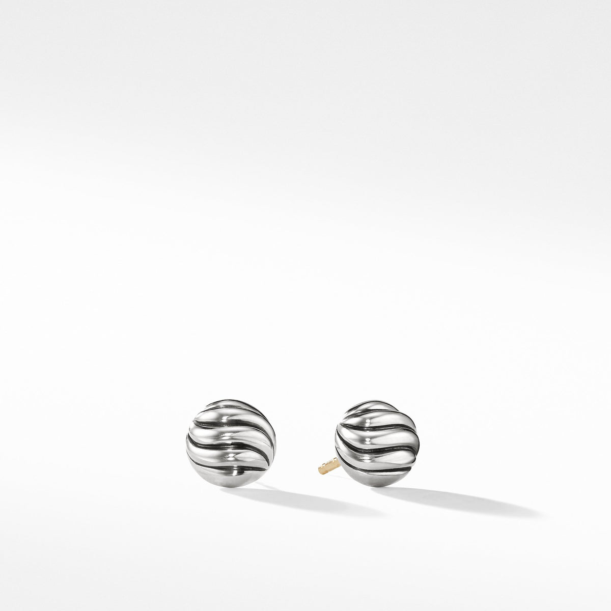 Sculpted Cable Stud Earrings