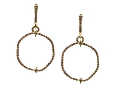 Sueno Wavy Circle Earrings