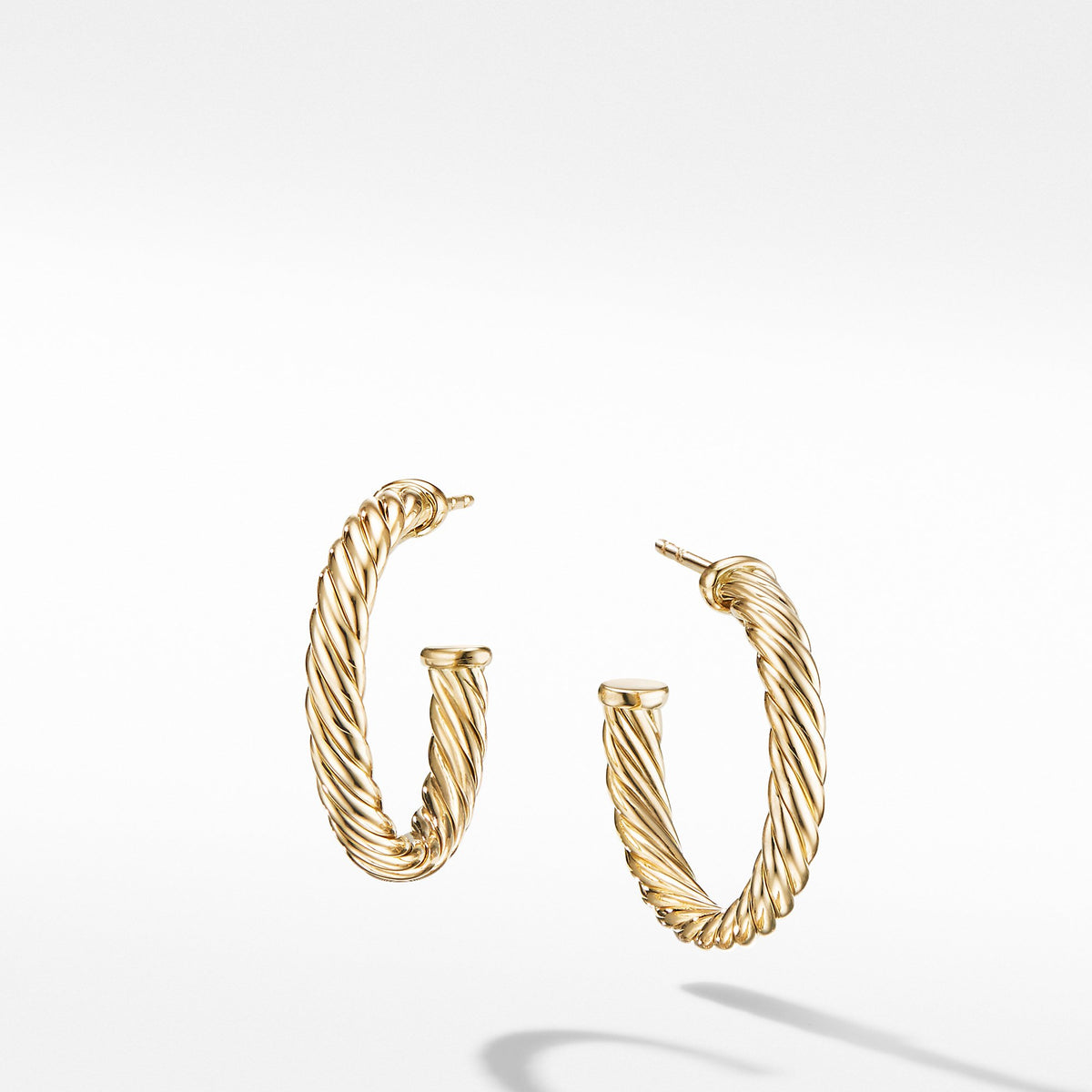 Small Cablespira Hoop Earrings in 18K Yellow Gold