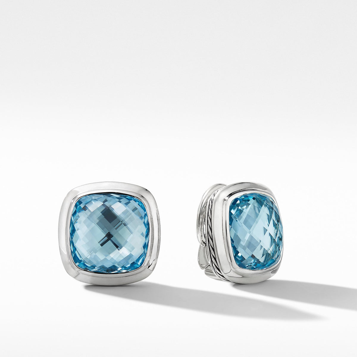 Albion Stud Earrings with Blue Topaz