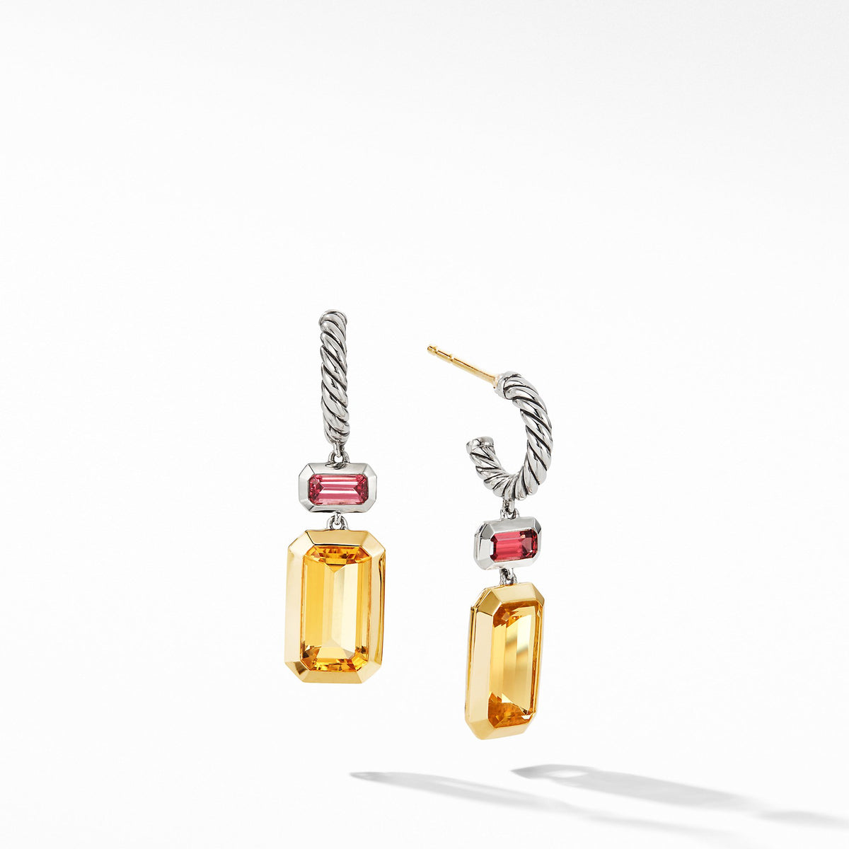 Novella Drop Earrings with Citrine and 18K Yellow Gold