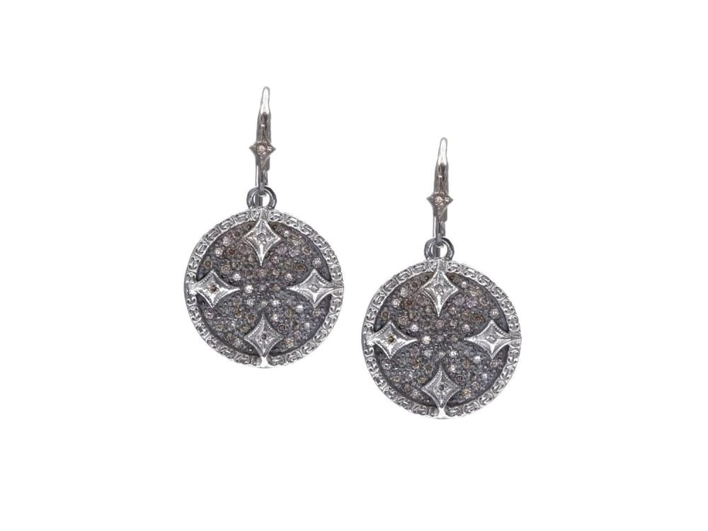 Stslvr/ New World Grey Disc Earrings