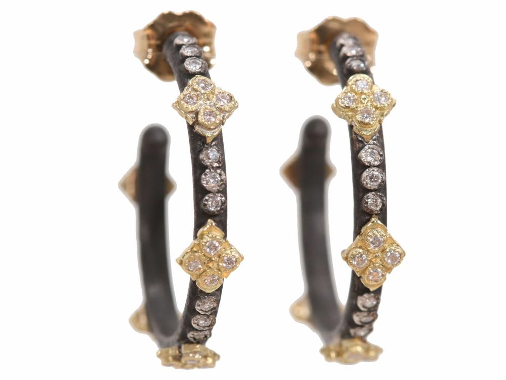 Stslvr/ Diamond Crivelli Cro Hoop Earrings