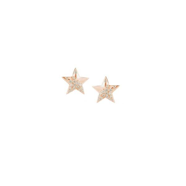 14K Rose Gold Cynthia Rose Star Studs
