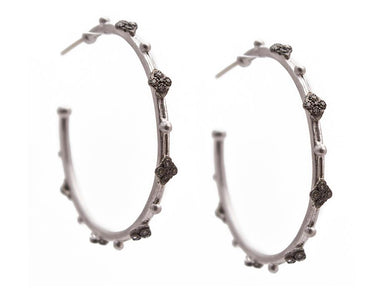 Stslvr Champagne Diamond Cravelli Hoops