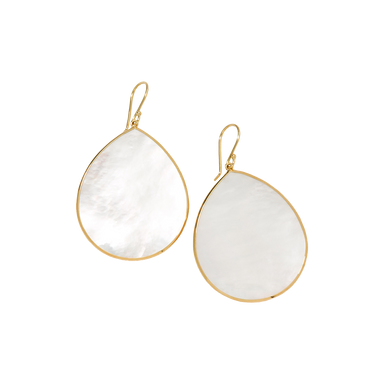 Mother of Pearl Rock Candy Large Teardrop Earrings
