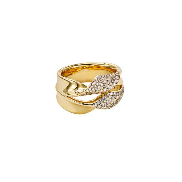 Stardust Pave Ribbon Ring