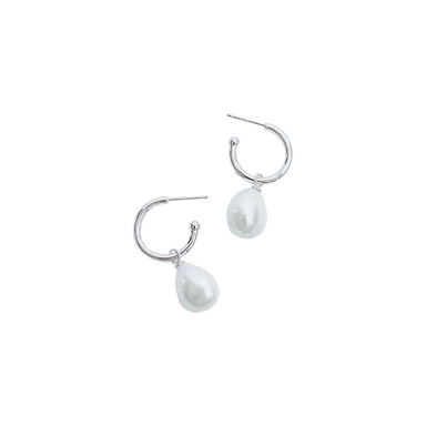 Fresh Water Pearl Hoop & Drop Earrings