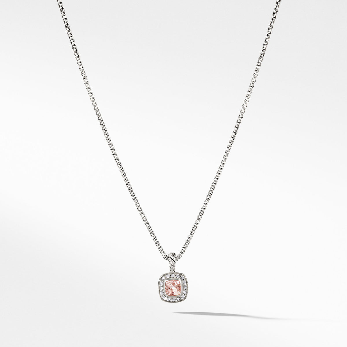Albion Kids Necklace with Morganite and Diamonds, 4mm