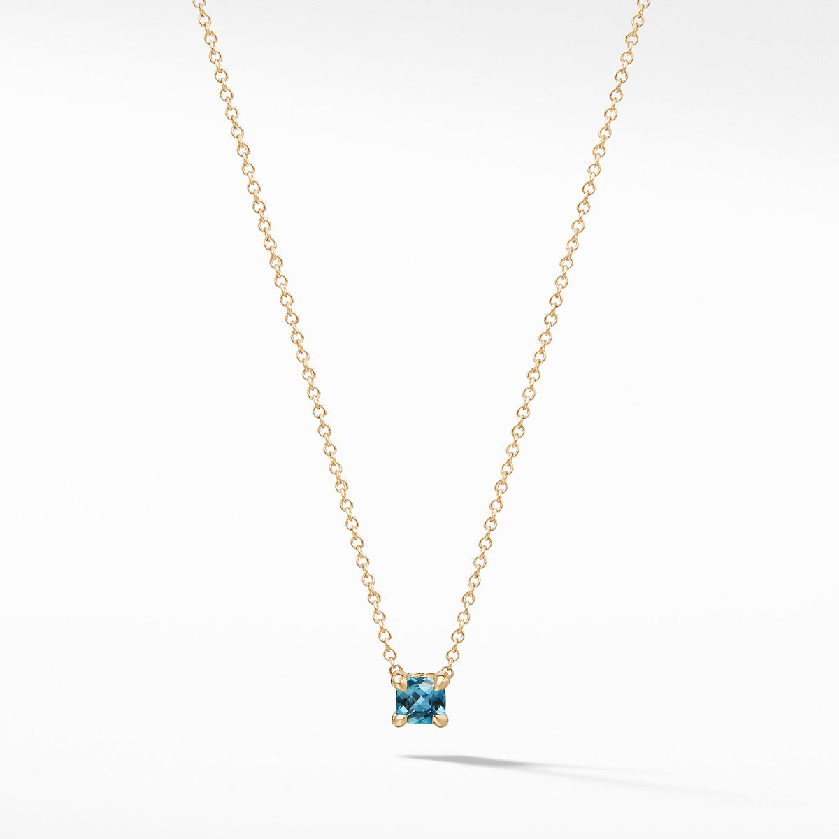 Chatelaine Kids Necklace with Hampton Blue Topaz in 18K Gold, 4mm