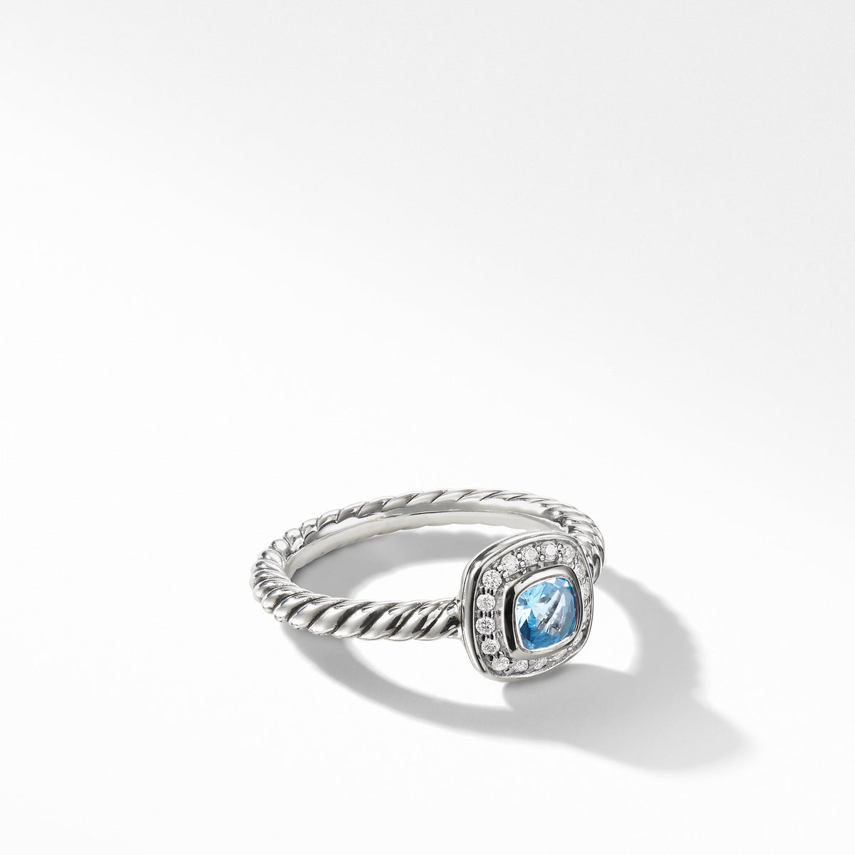 Albion Kids Ring with Blue Topaz and Diamonds, 4mm