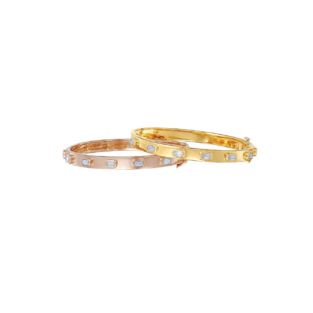 18K Rose Gold ASHOKA Diamond Bangle