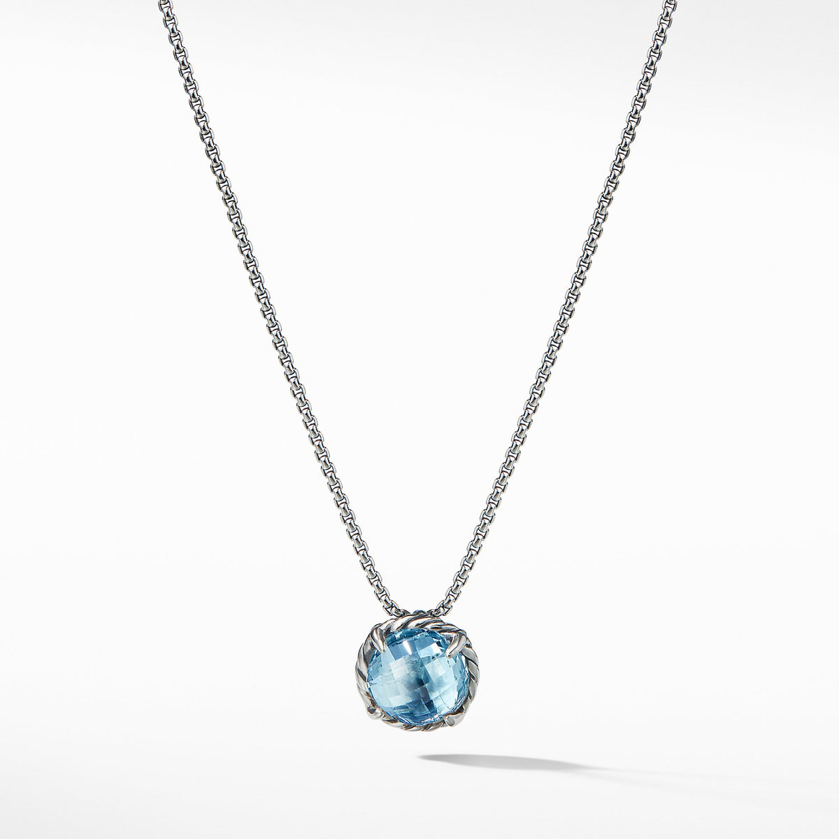 Chatelaine Pendant Necklace with Blue Topaz