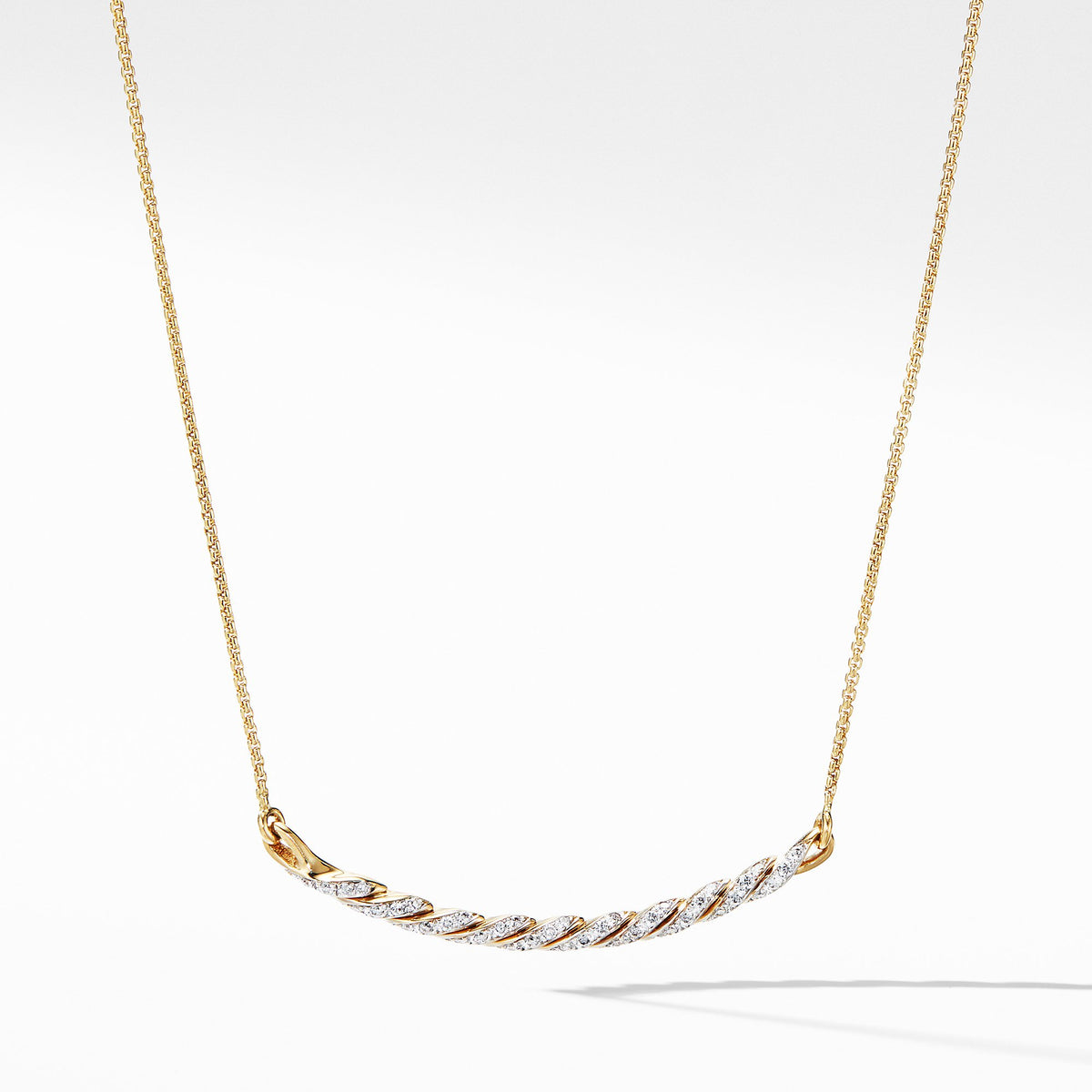 Paveflex Station Necklace with Diamonds in 18K Gold
