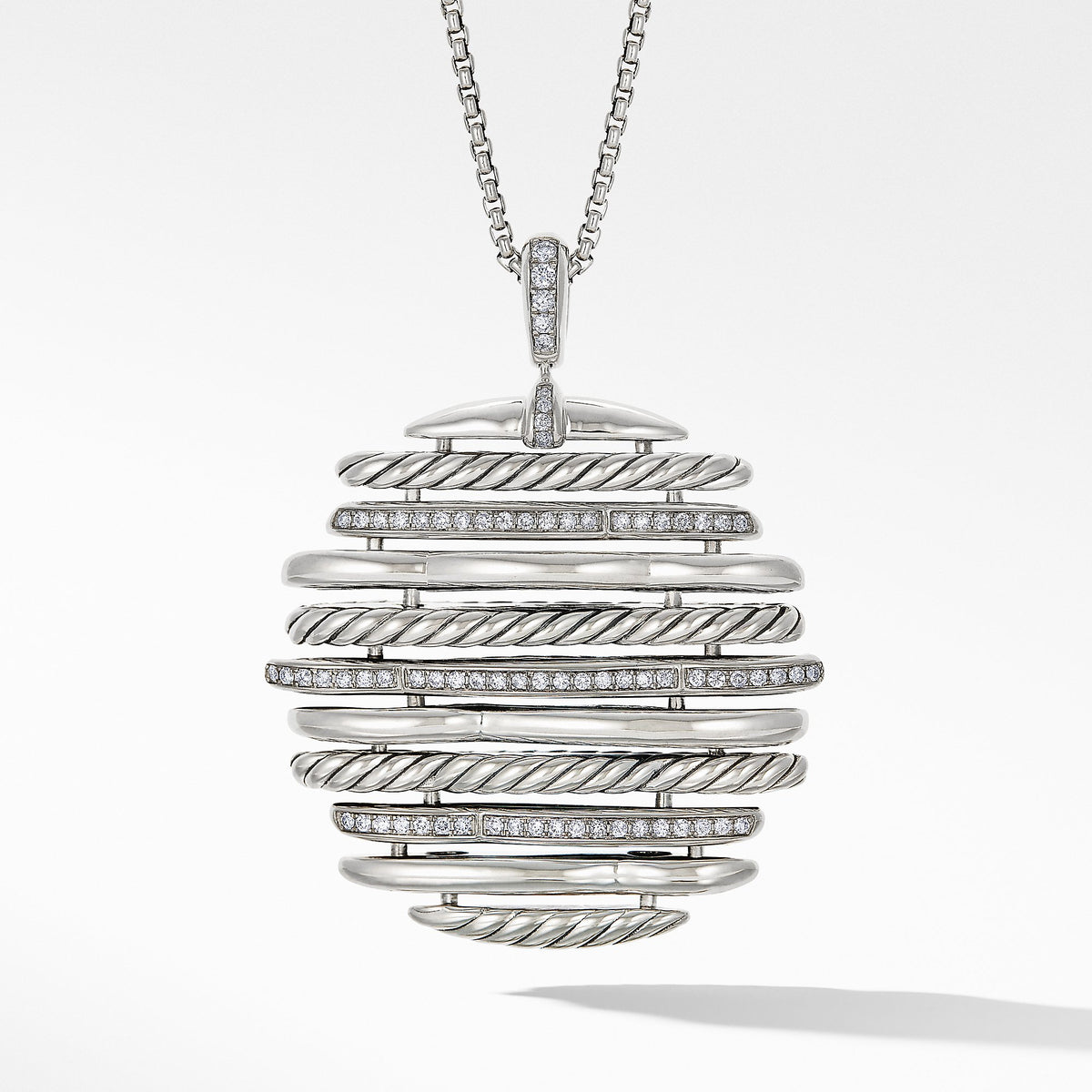 Tides Pendant Necklace with Diamonds
