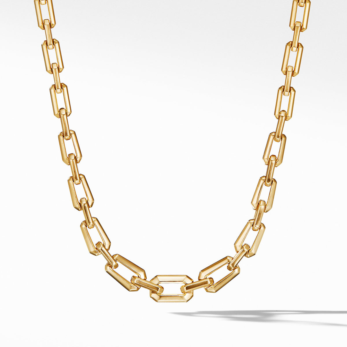 Novella Faceted Chain Necklace in 18K Yellow Gold