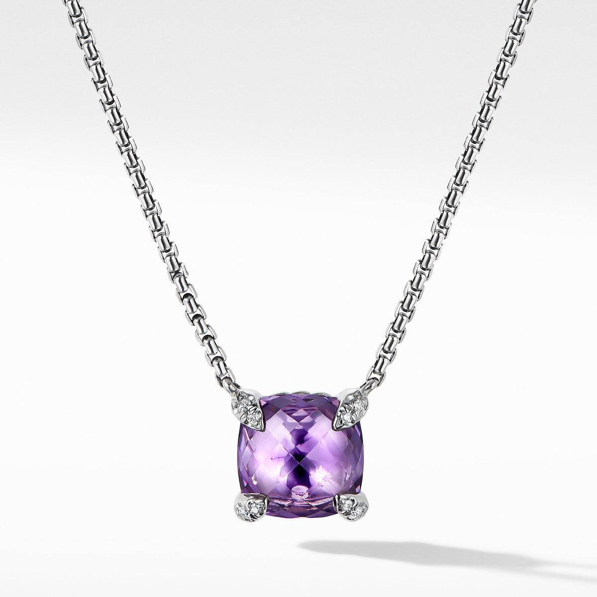 Chatelaine Pendant Necklace with Amethyst and Diamonds