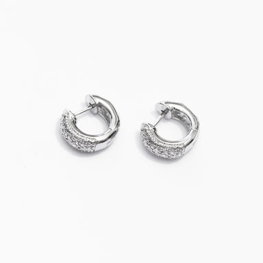 Small Huggie Diamond Hoop Earrings