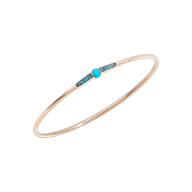 Turquoise and Blue Zircon M'Ama Non M'Ama Bangle