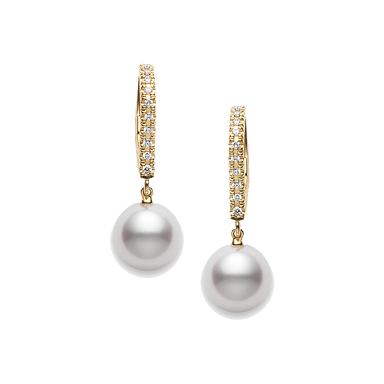 Akoya Pearl and Diamond Classic Earrings