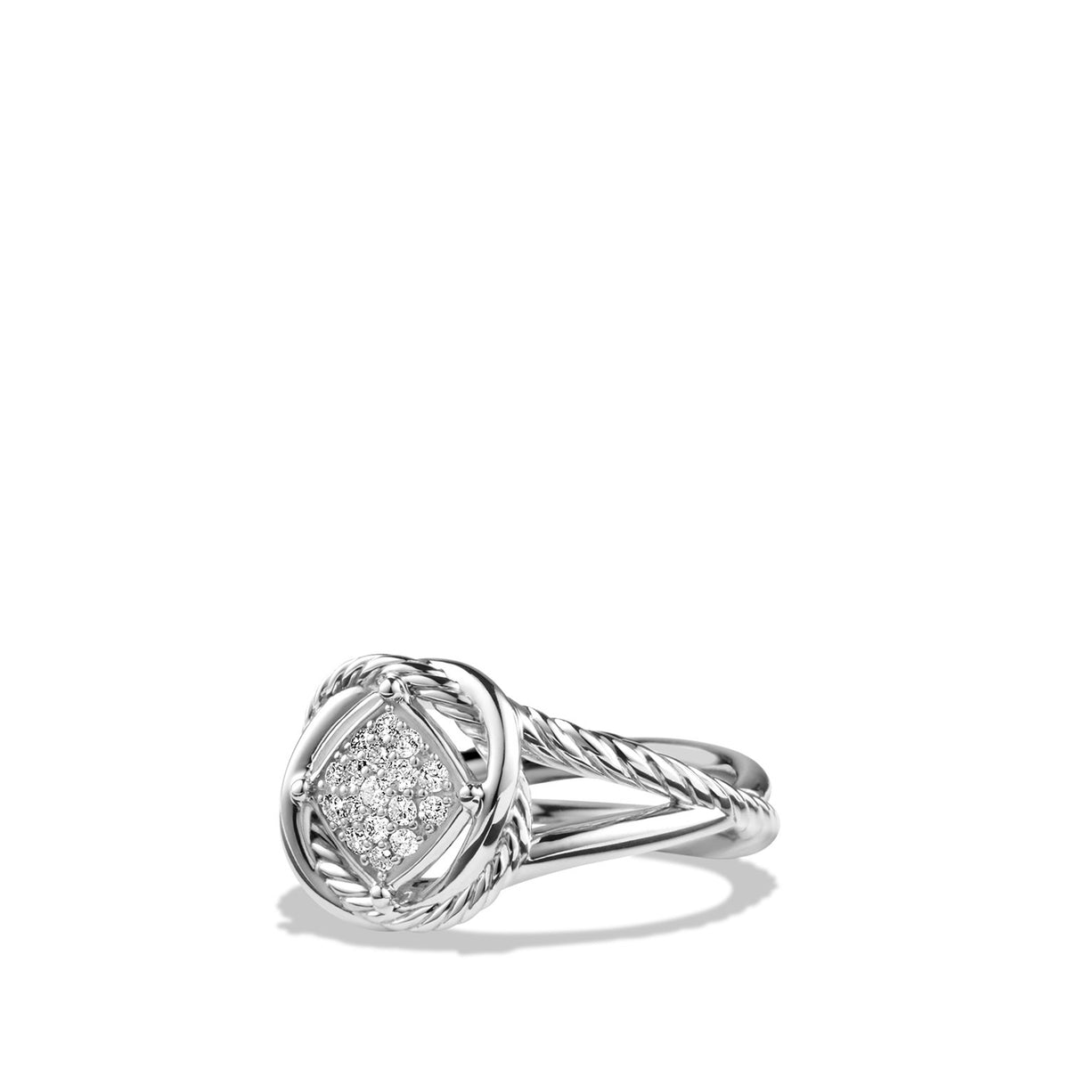Infinity Ring with Diamonds