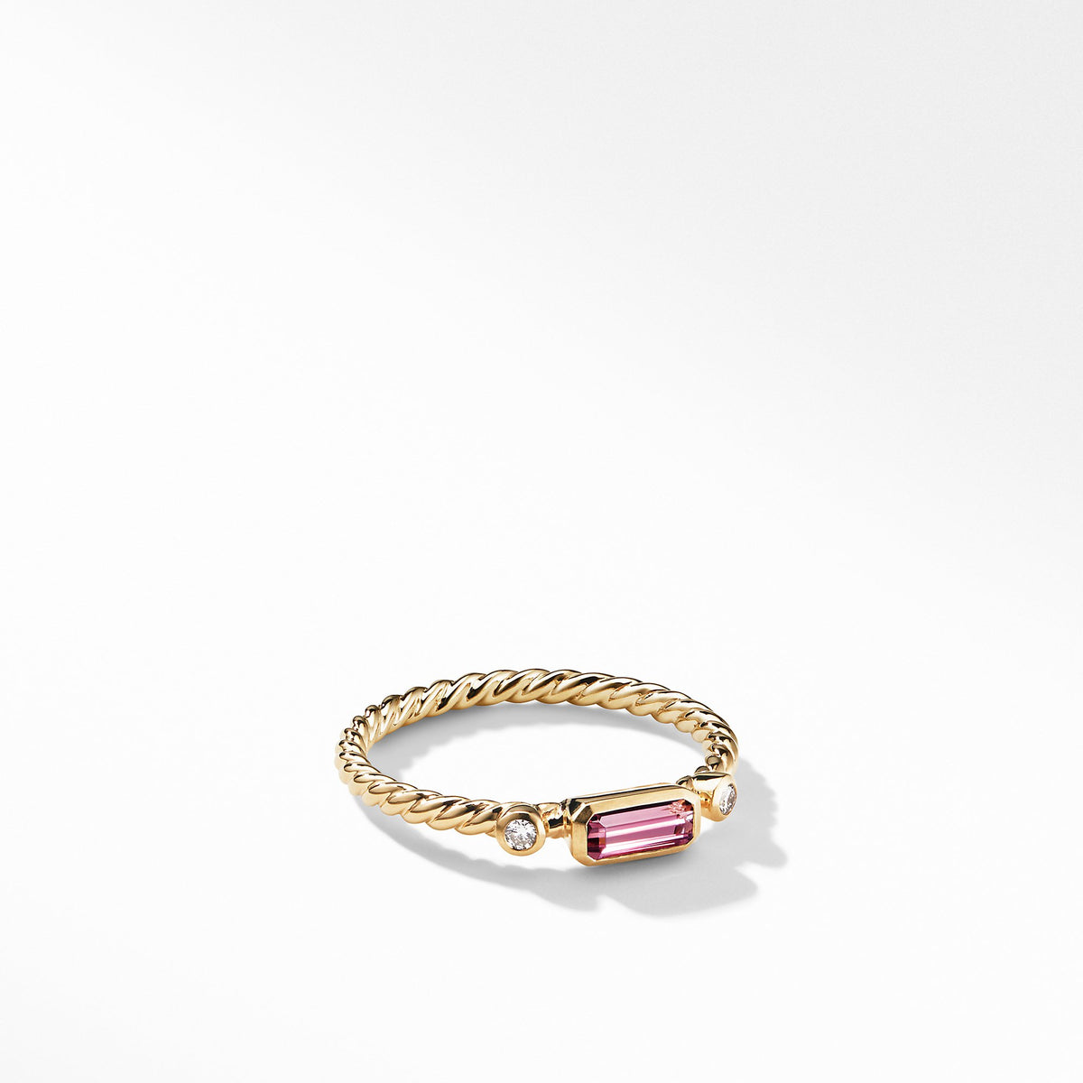 Novella Ring in Pink Tourmaline with Diamonds