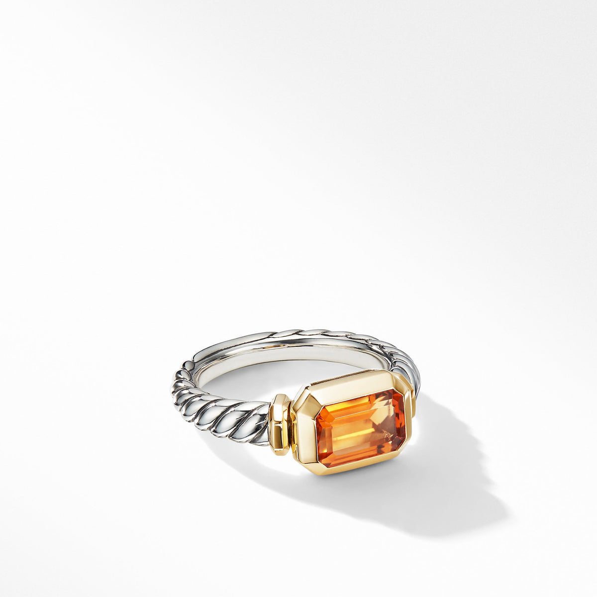 Novella Ring with Madeira Citrine and 18K Yellow Gold