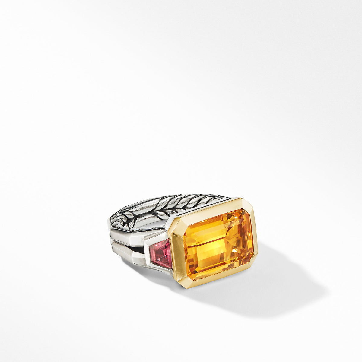 Novella Three Stone Ring with Citrine and 18K Yellow Gold