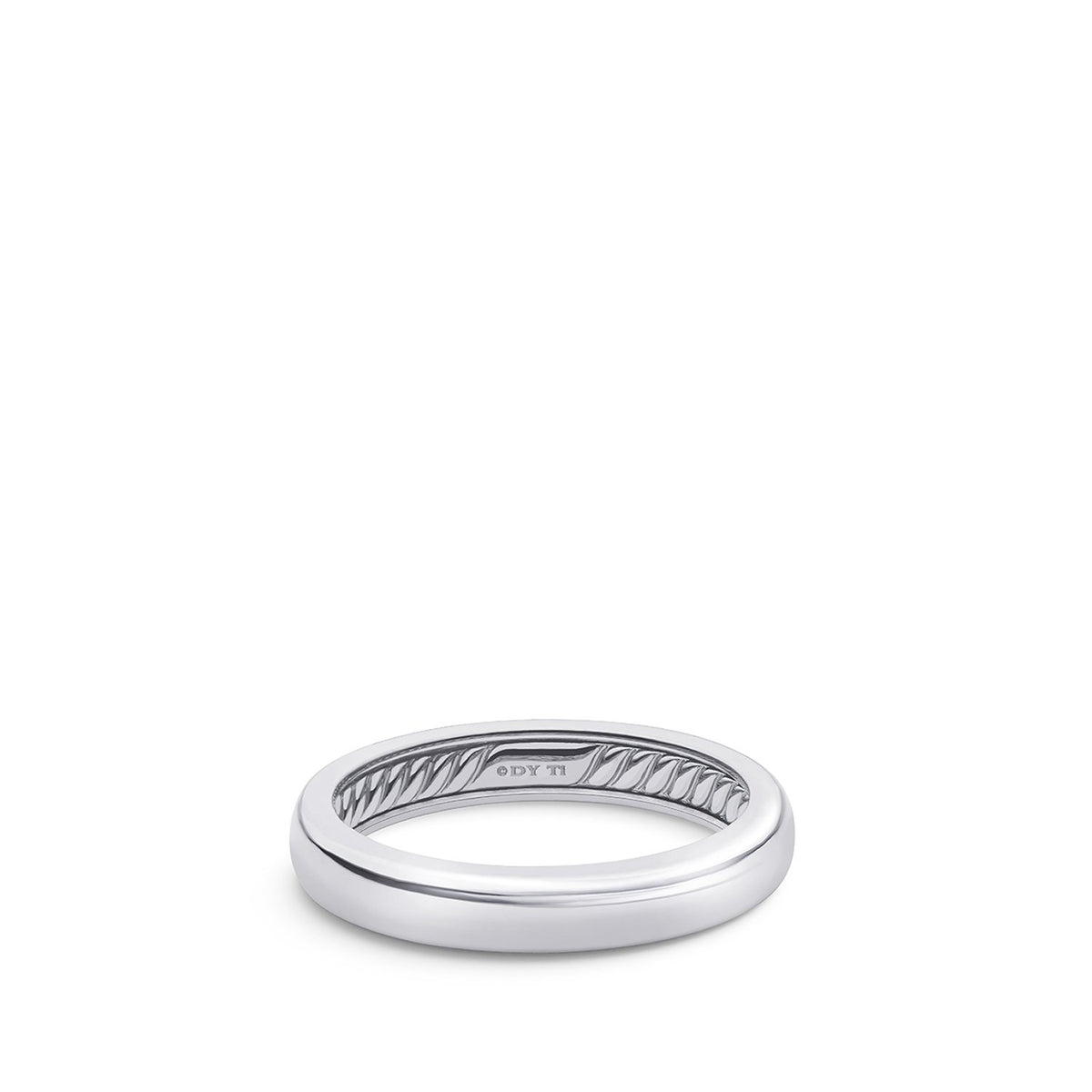 DY Classic Band Ring in Grey Titanium
