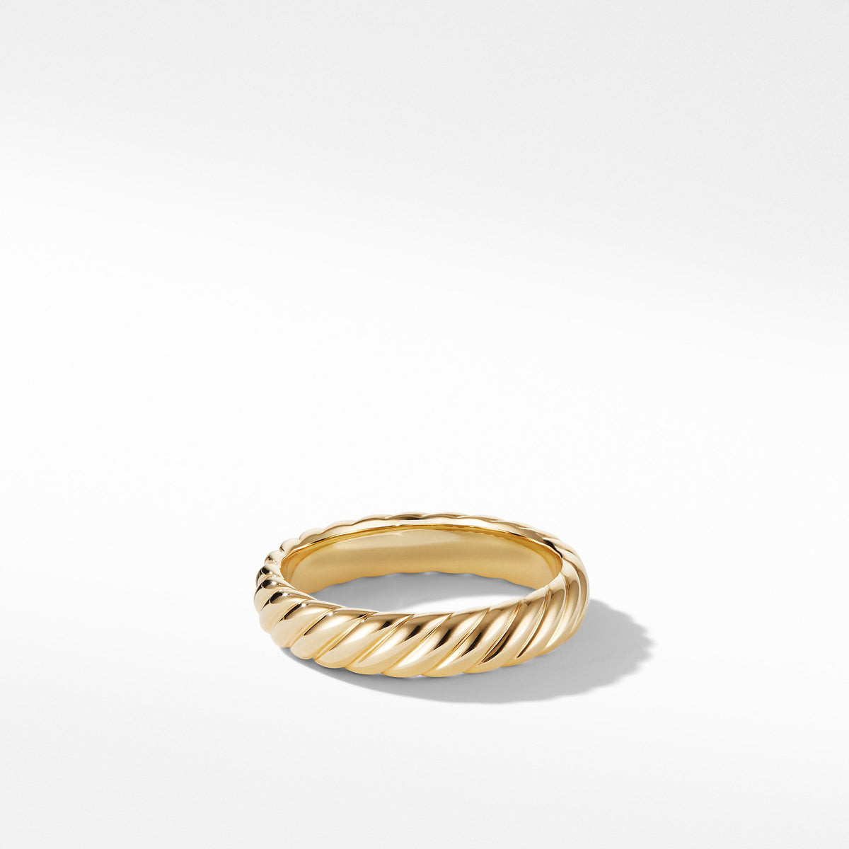 Cable Band Ring in 18K Yellow Gold