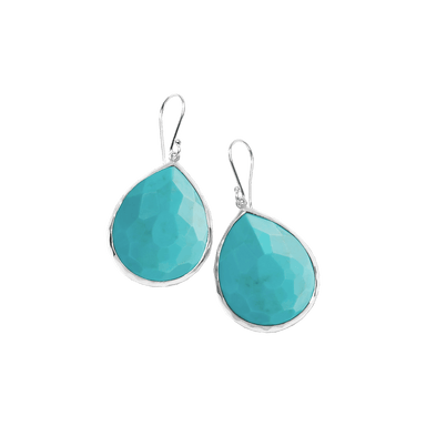 Turquoise Large Teardrop Earrings
