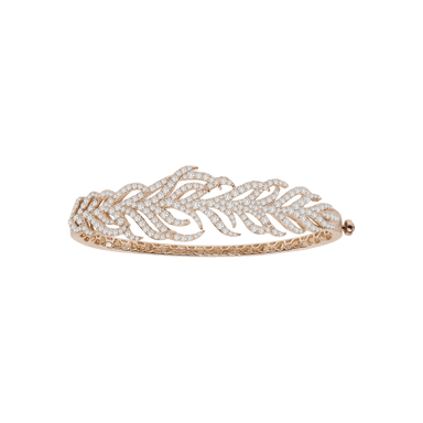 Diamond Feather Bangle