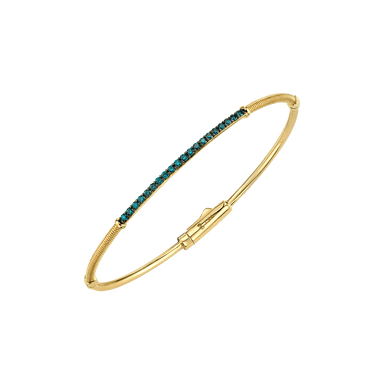 Blue Diamond Skinny Bangle