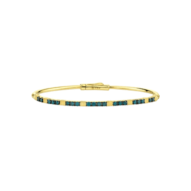 Blue Diamond & Strie Station Skinny Bangle