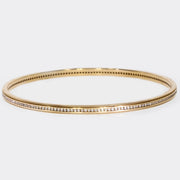 18K Pink Gold Channel Set Bangle