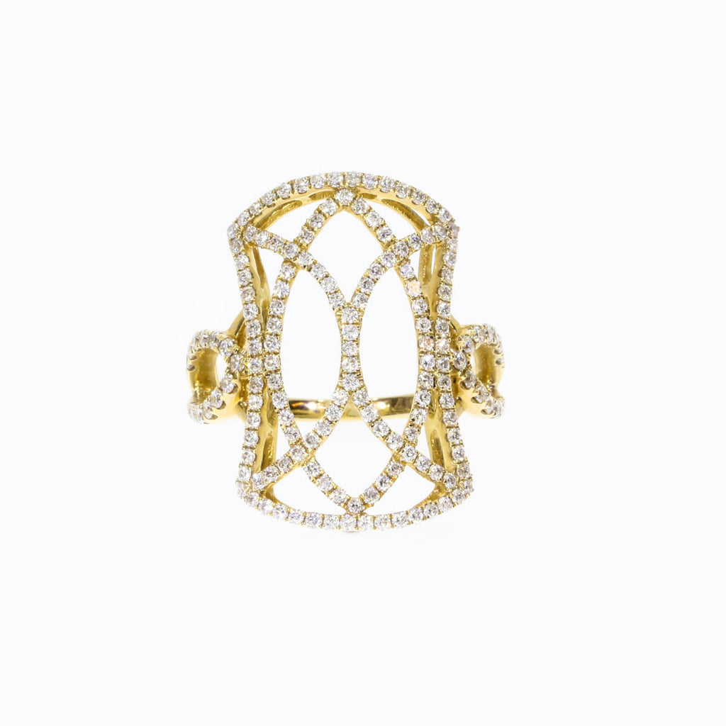 14K Yellow Gold Classic Diamond Ring