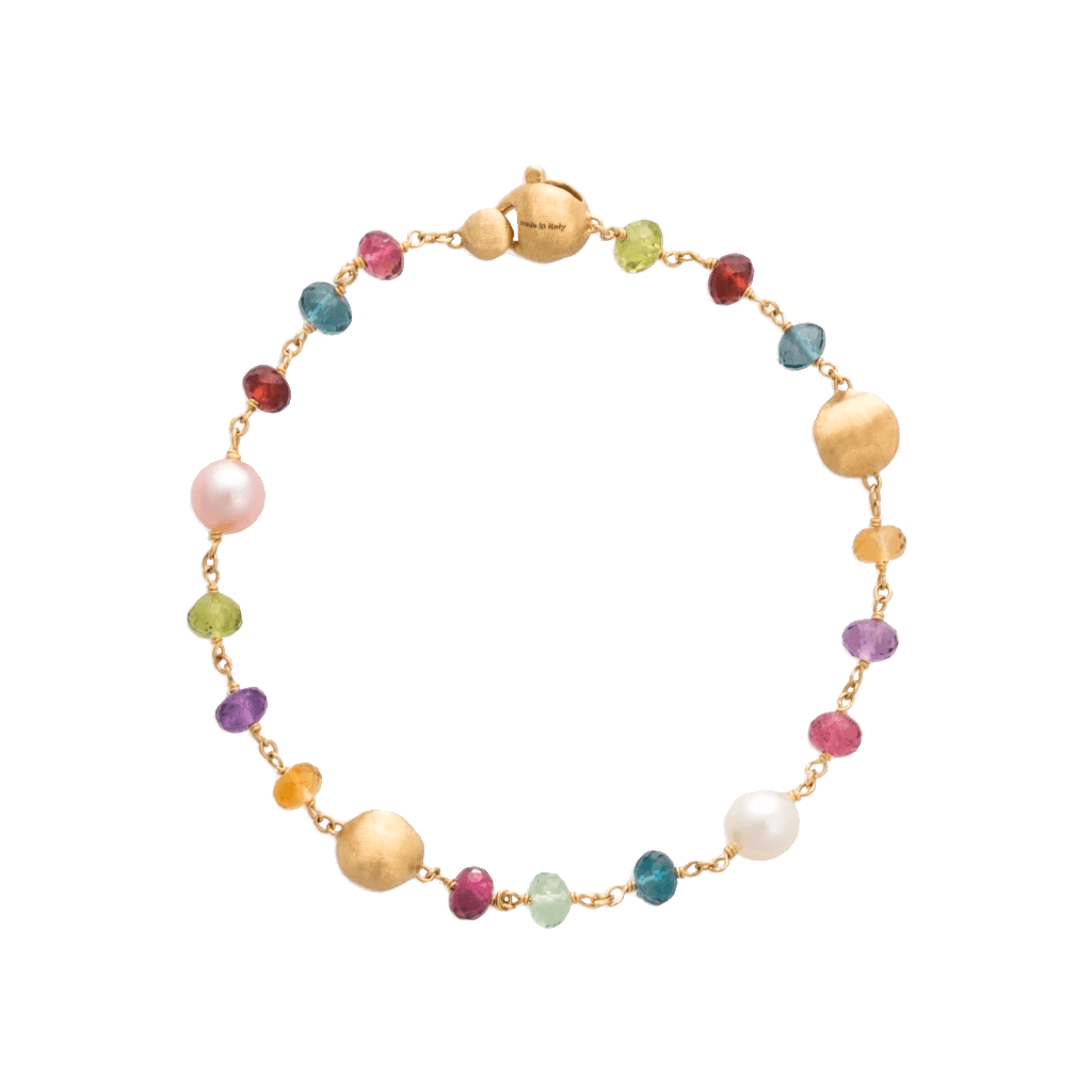 Africa Pearl and Gemstone Bracelet