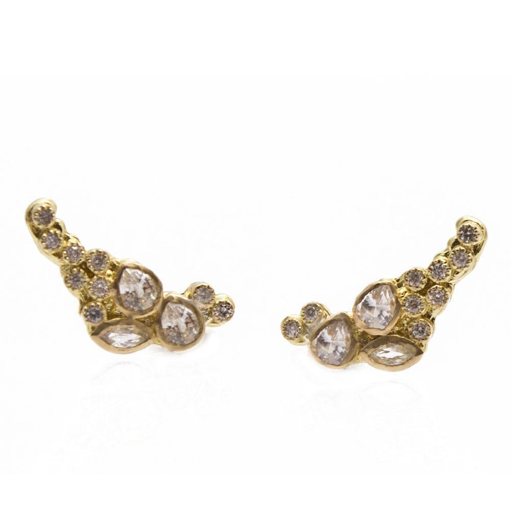 Cluster Petite Ear Climber Earrings
