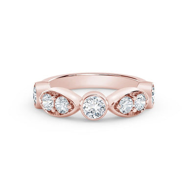 18K Rose Gold Stackable Bezel Set Diamond Ring