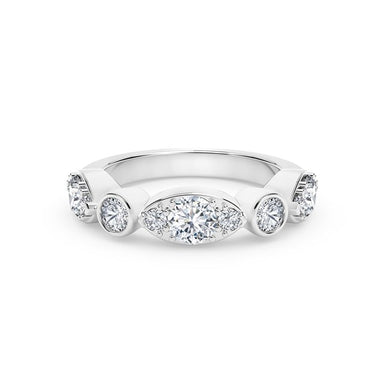 18K White Gold Delicate Diamond Ring